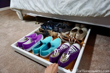 Slide Out Shoe Storage With Mattress Support