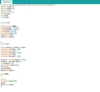Arduino Sketch of Box(ing) Man: