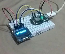 使用OLED SPI显示器在粒子的光子板。