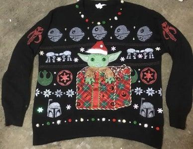 """The Child"" Ugly Holiday Sweater Aka: Baby Yoda-wear"