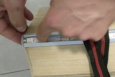 Connecting the Led Strip - Front