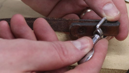 Remove the Old Rivets and Clasp