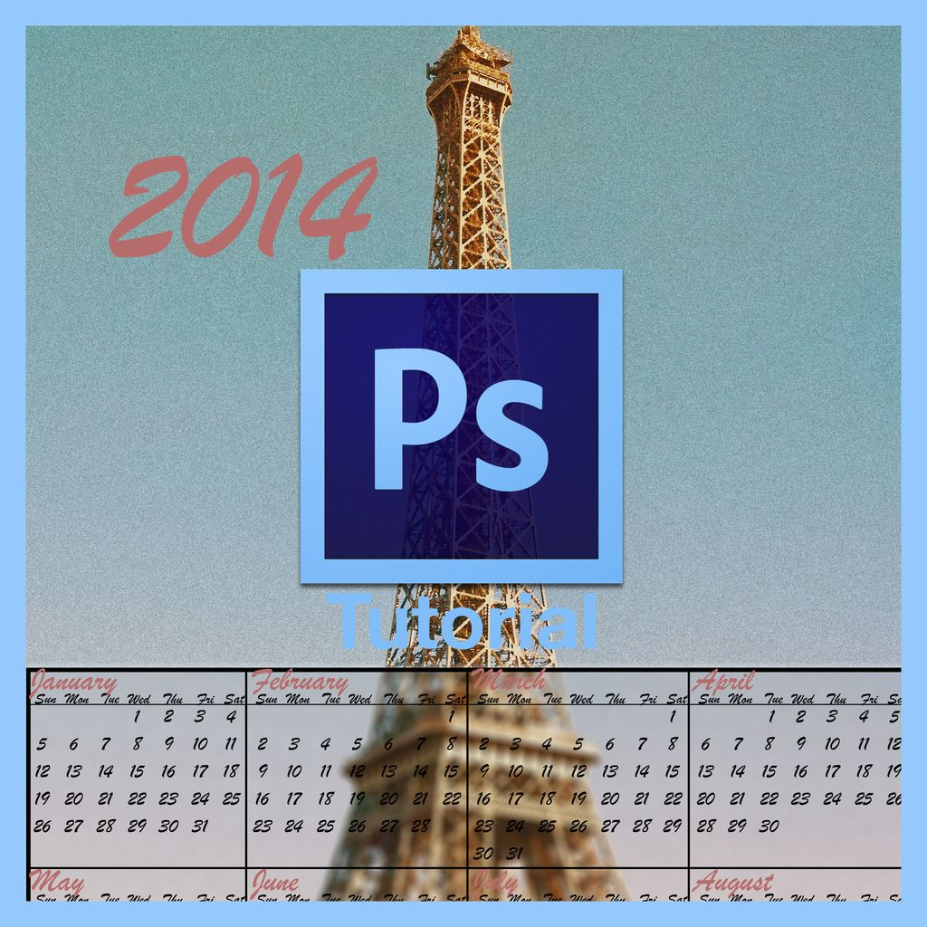 Picture of How to Make a Calendar in Photoshop