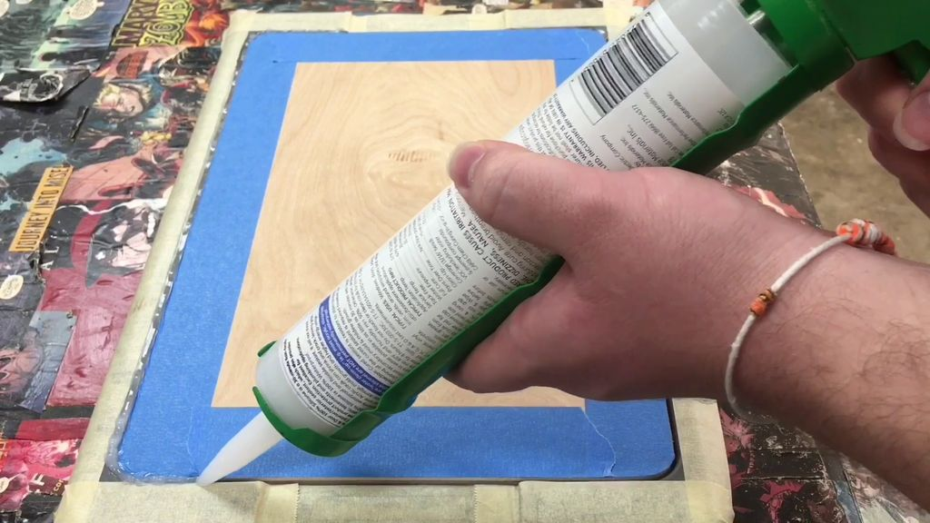 Picture of Masking and Applying Silicone