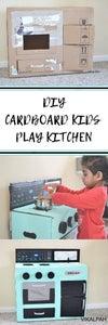 DIY Cardboard Kids Play Kitchen