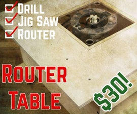 Desktop Router Table Using Only 3 HAND Power Tools