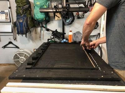 Glue the Blocks to the Backboard