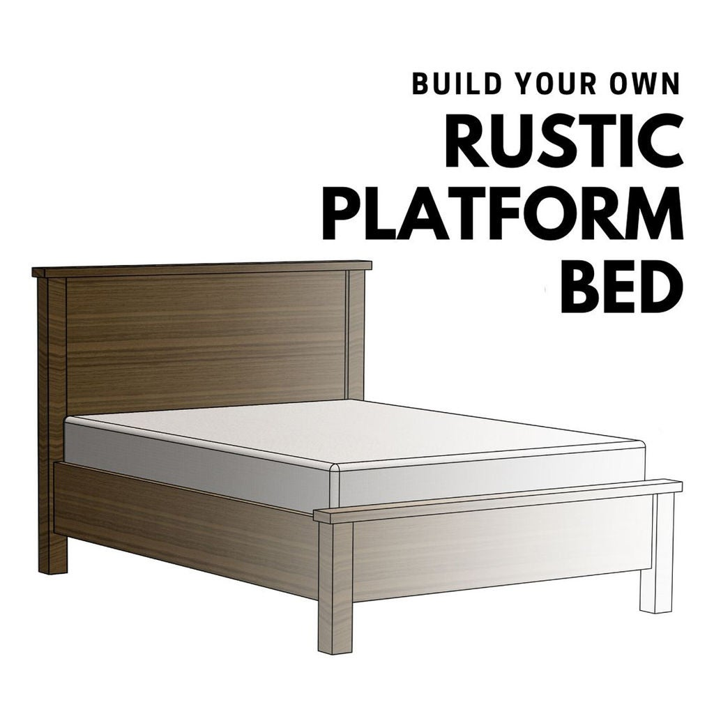 Picture of Make This Easy to Build Rustic Platform Bed
