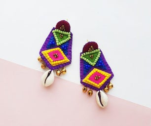 DIY波西米亚风格的耳环