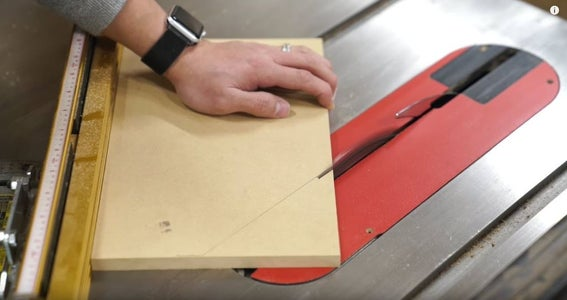 Cutting the Drawer Fronts
