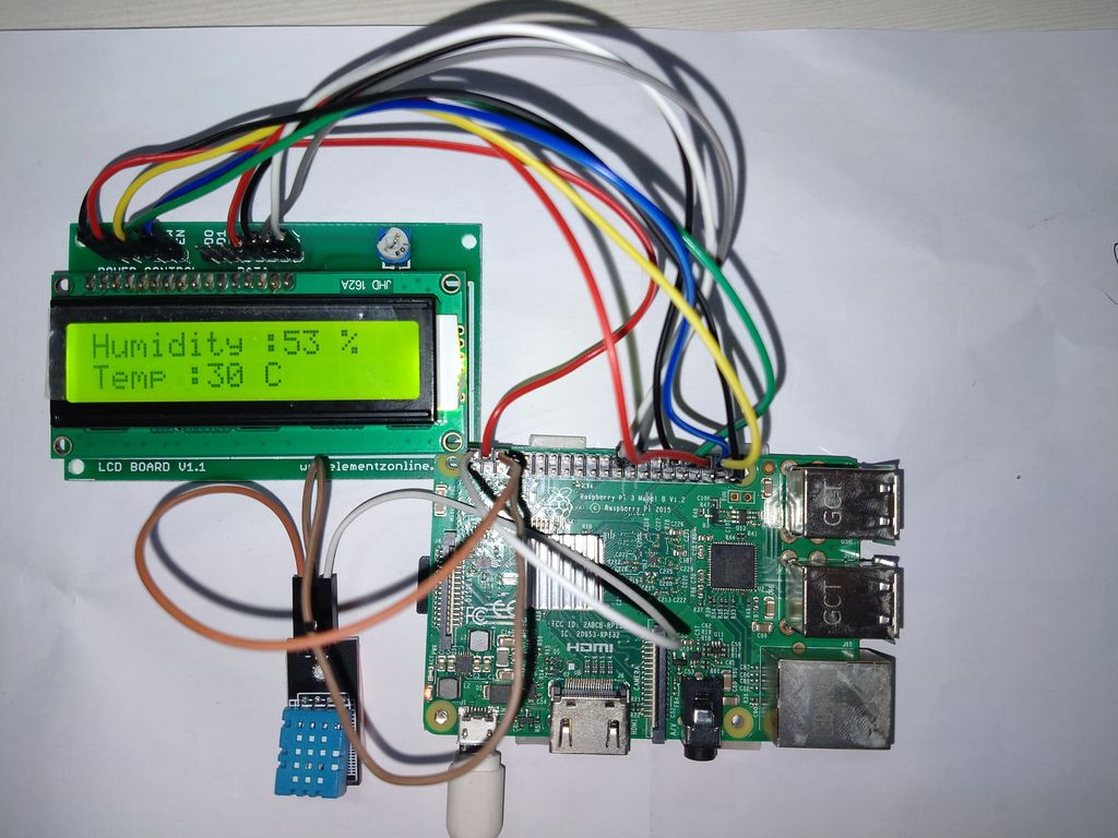 Picture of Weather Monitoting System Using  Raspberry Pi3 and DHT11 Sensor