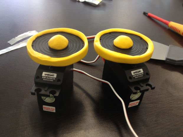 Simple Sugru Robot Wheel
