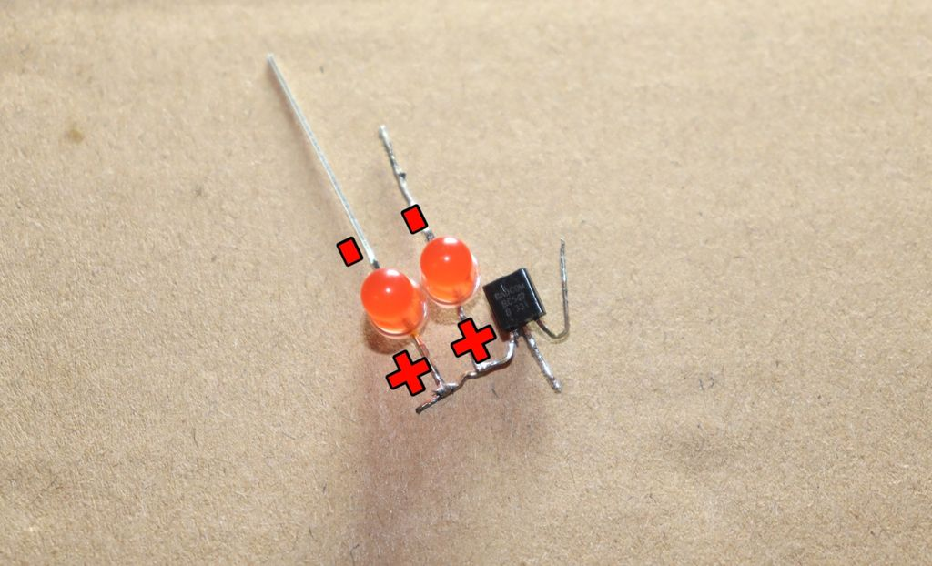 Picture of Connect Red LED to Transistor