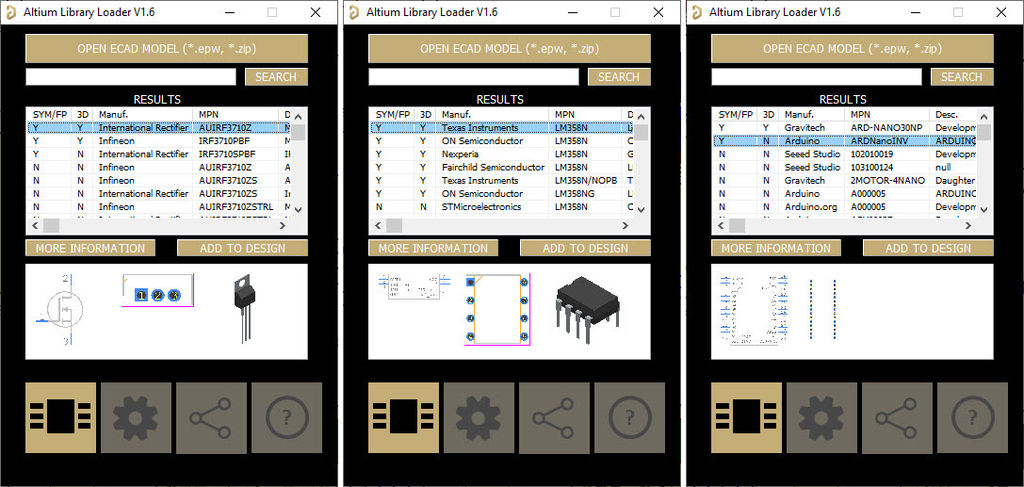 Picture of Figure 4, Installed Components From the SamacSys Altium Plugin