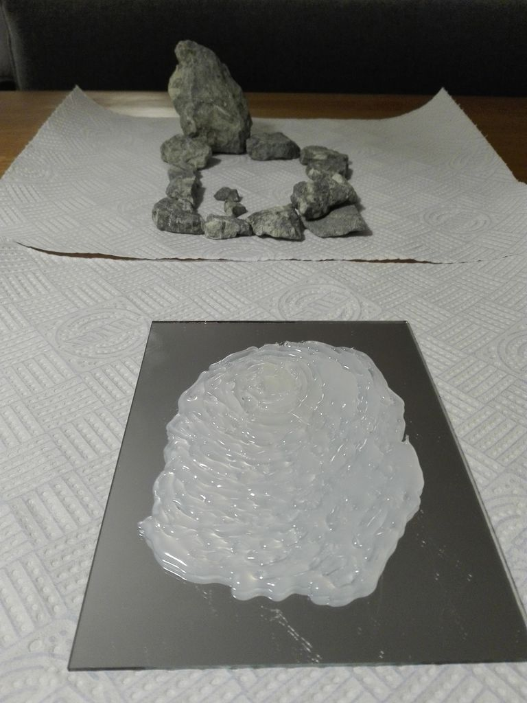 Picture of Glue Stones and Make the Waterfall