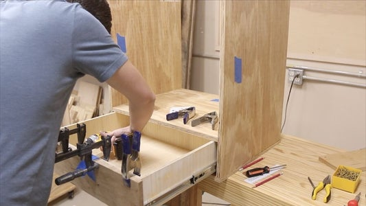 INSTALLING THE DRAWER FRONT AND PULL