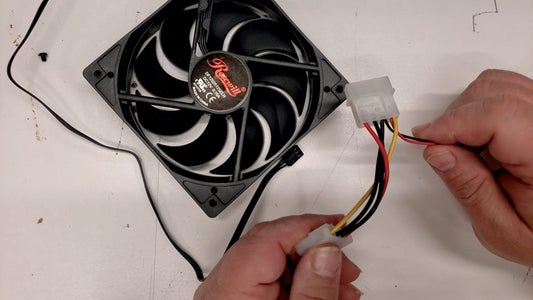 Find the Power Leads on the Fan