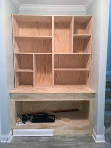 Building the Cabinets & Bookshelves