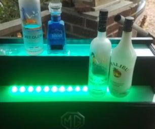 LED Liquor Shelf With Bluetooth Music