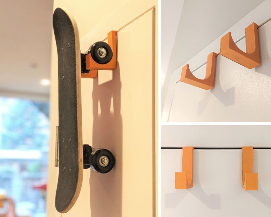 Picture of 3D-Printed Skateboard Hook