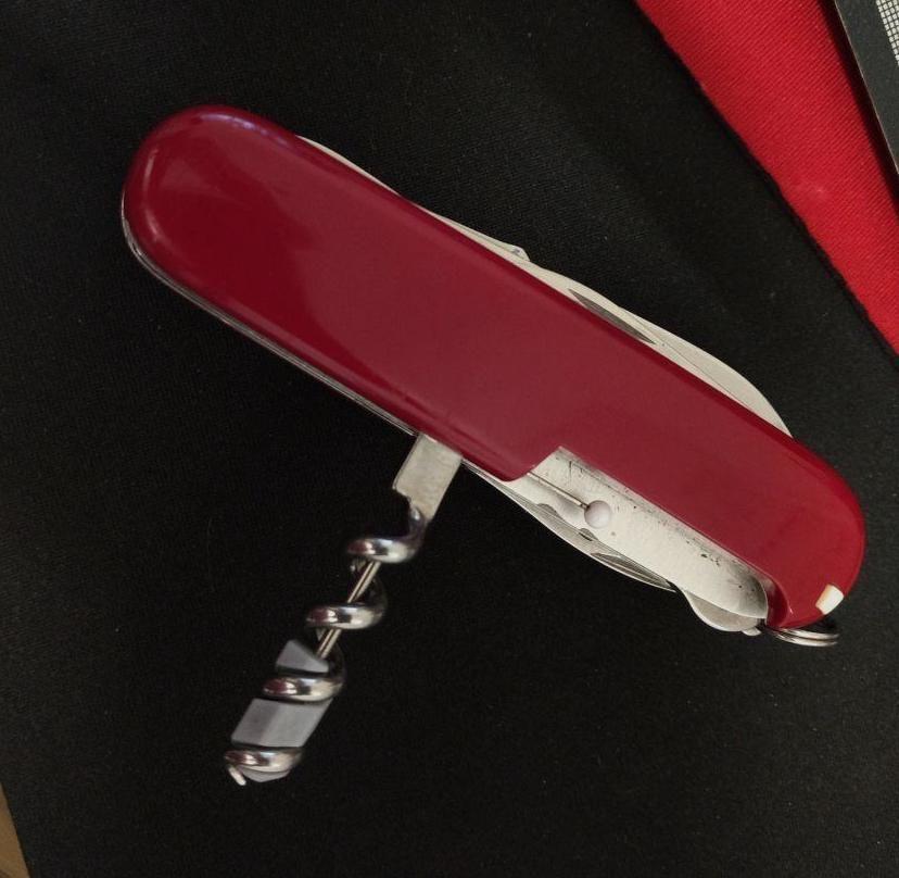 Sturdy Needle For Swiss Army Knife 3 Steps