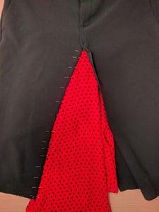 Pin Insert Fabric to Skirt