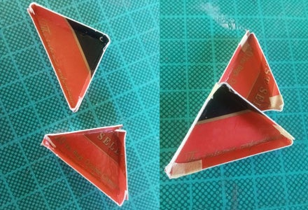 Fold, Assemble, and Glue Triangles in Place