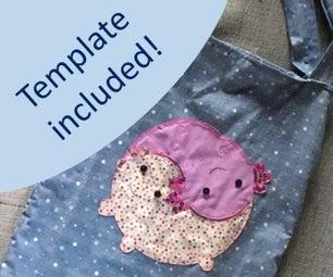 来自改良t恤和窗帘的Axolotl书包