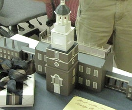 "Independence Hall 3D Birthday ""card"""