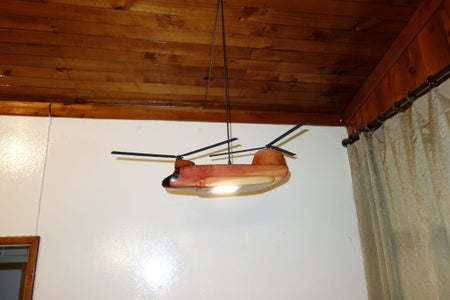 Helicopter Hanging Light Made With a CNC Machine and Fusion 360