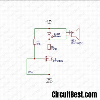 mosfet wiring diagram wire break alarm circuit with irfz44n mosfet 11 steps  wire break alarm circuit with irfz44n
