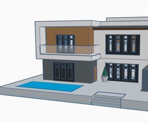 Modern House (TinkerCad)