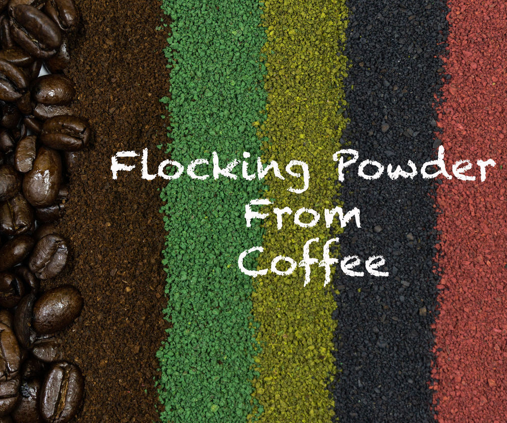 Recycled Coffee As Flocking Powder