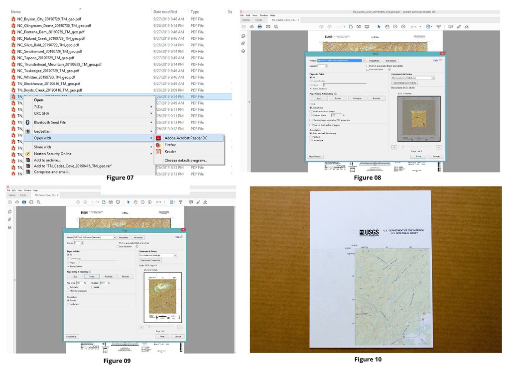 """Picture of How to Accurately Print the 24"""" X 29"""" USGS TOPO Maps to Scale"""