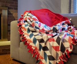 No-Sew Fleece Cocoon-Blanket