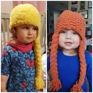 """Easy Knit Princess Hats - Inspired by the Movie """"Frozen"""""""