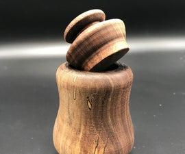 Turned Wooden Jar