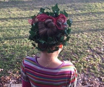 Christmas Wreath Hairstyle