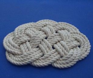 ABOK 818 - Ocean Plait Mat - Aka Flat Lanyard Knot