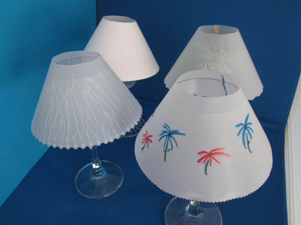 Picture of Vellum Paper Wine Glass Shade