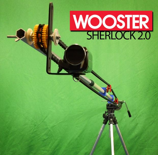 Picture of DIY Camera Crane - the Wooster Sherlock 2.0 With Manual Tilt