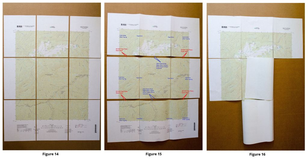 Picture of The Method I Use to Assemble and Fold the Printed Maps