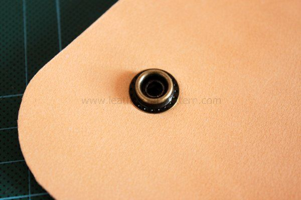 Picture of Punch Holes on Strap to Install Concho Button, Only Punch Holes, We Will Install It Later.
