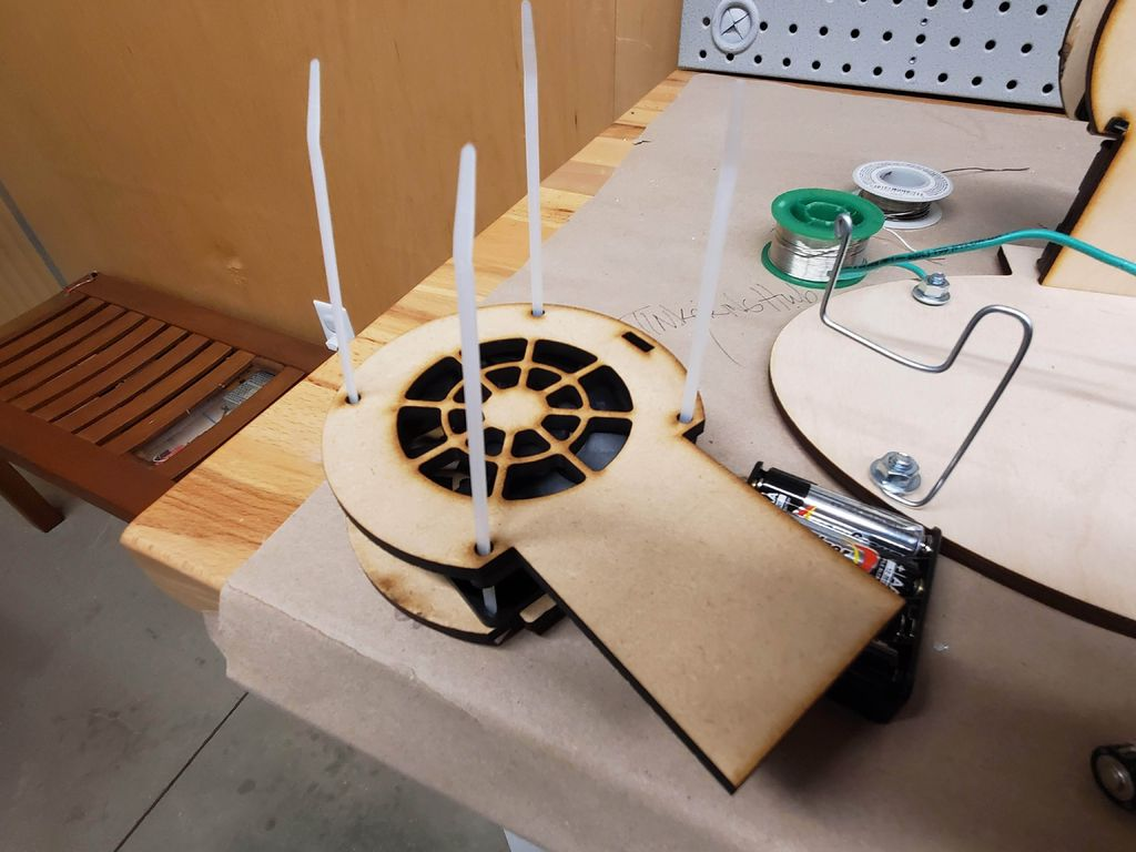 Picture of Putting the Fan Together.