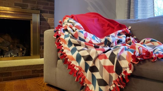 No-Sew Fleece Cocoon-Blanket