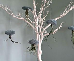 如何制作可爱的空中植物和钢丝水母