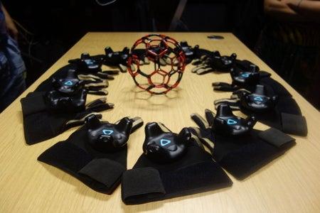 Etextile VR Gloves for Vive Tracker