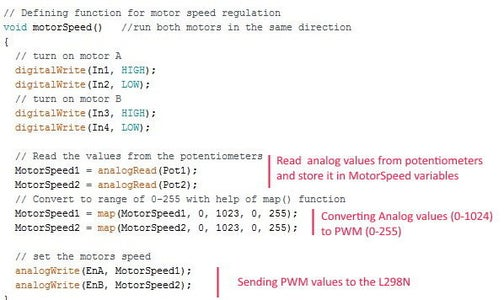Control Motors With Potentiometer