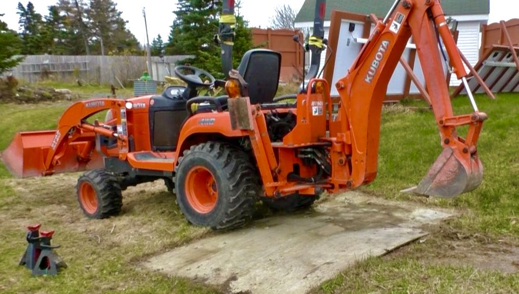 Picture of Kubota BX Removing the Backhoe