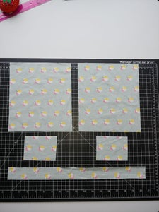Cut 5 Rectangles of Fabric